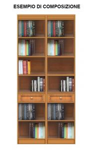 Libreria modulare con cassetto