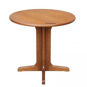 Tavolino rotondo legno massello