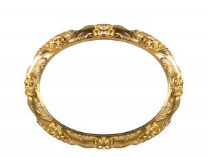Specchiera foglia oro ovale