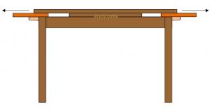 Tavolo 80x80 allungabile