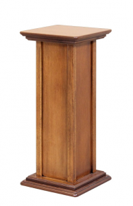 Coppia di colonnine portavasi, altezza 60 e 80 cm