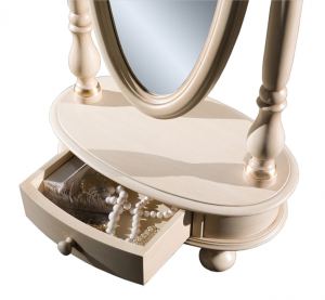 Specchiera girevole con cassetto