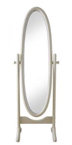 Specchiera girevole ovale