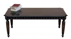 Tavolino rettangolare laccato nero