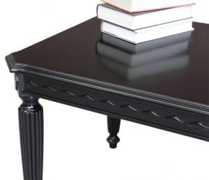 Tavolino rettangolare laccato nero - OFFERTA