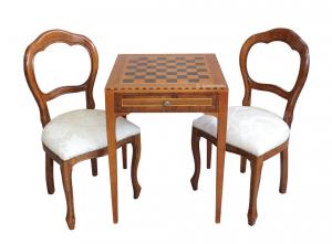 Tavolino scacchiera quadrato
