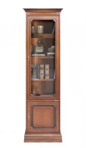 Libreria vetrina salvaspazio 2 ante stile classico