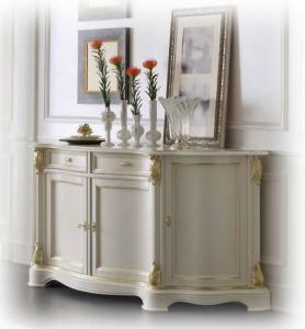 Credenza stile classic white and gold