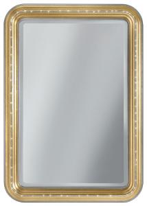 Specchiera rettangolare gold Swarovski