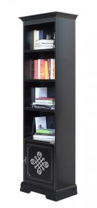 Libreria alta nera 1 anta 'Stendhal'