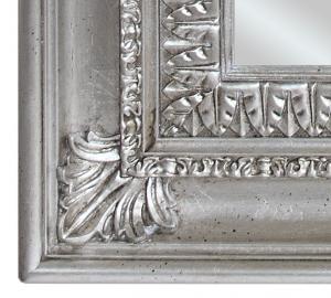 Specchiera foglia argento a mano