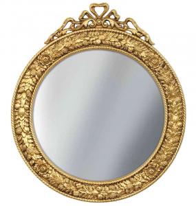Specchiera rotonda Foglia oro
