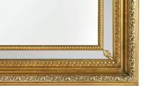 Specchiera foglia oro maxi
