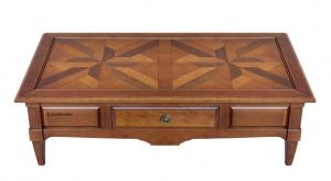 Tavolino massello ciliegio piano a tasselli