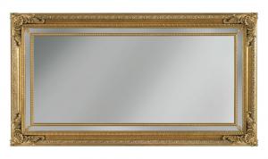 Specchiera con fregi in legno