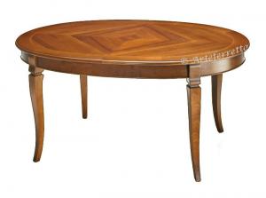 Tavolo intarsiato ovale 160-210 cm