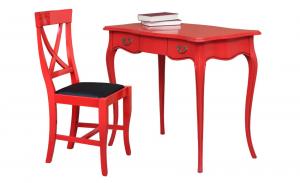 Scrittoio Rosso Ferrari con sedia