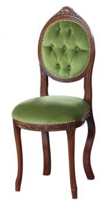 Sedia schienale ovale capitonné 'Ovalina'
