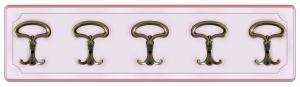 Pannello appendiabiti rosa 5 elementi