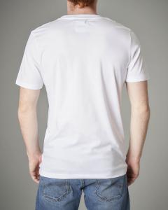 T-shirt bianca con logo Pyrex nero