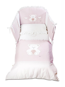 bianco Italbaby paracolpi in peluche