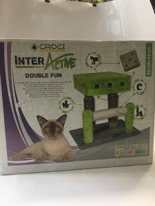 Tiragraffi Inter Active double fun colore grigio verde e corda