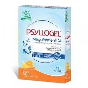 PSYLLOGEL MEGAFERMENTI 24 - 12 BUSTINE GUSTO ACE PER IL RIEQUILIBRIO DELLA FLORA INTESTINALE