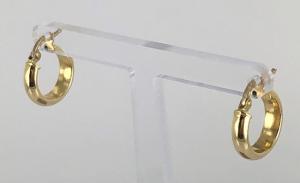 ORECCHINI A CERCHIO IN CANNA VUOTA LUCIDA IN ORO 18 KT DIAMETRO 1.40 CM
