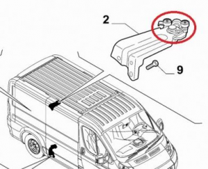 Kit riparazione guida superiore porta scorrevole Fiat Ducato dal 2006