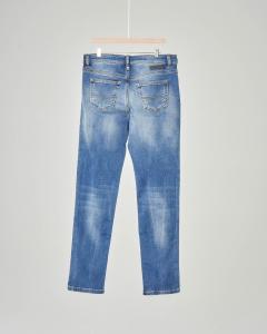 Jeans Jogg Mharky con cavallo basso e lavaggio stone wash 10-12 anni