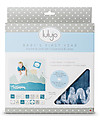Kit Primo Anno - Copertina Swaddle in Mussola di Cotone + 14 Cards, I Will Move Mountains - Per i bebé più social!