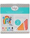 Kit Primo Anno - Copertina Swaddle in Mussola di Cotone + 14 Cards, A Dream Come True - Per i bebé più social!