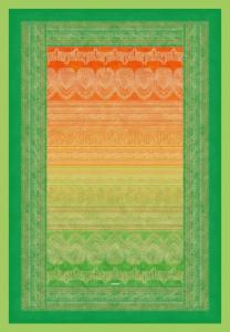 Bassetti Plaid Granfoulard 135x190 cm BRUNELLESCHI 3 verde-arancione