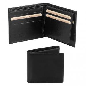Tuscany Leather TL141353 Esclusivo portafoglio uomo in pelle 3 ante Nero