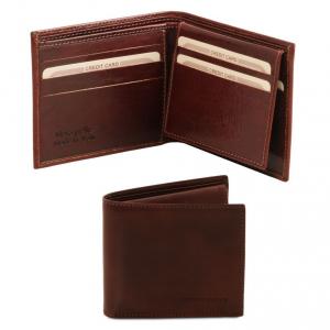 Tuscany Leather TL141353 Esclusivo portafoglio uomo in pelle 3 ante Testa di Moro