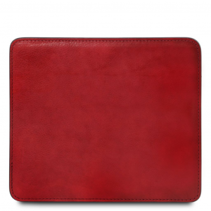 Tuscany Leather TL141891 Tappetino per mouse in pelle Rosso