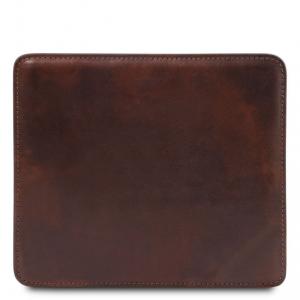 Tuscany Leather TL141891 Tappetino per mouse in pelle Testa di Moro