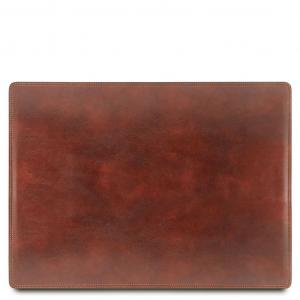 Tuscany Leather TL141892 Sottomano da scrivania in pelle Marrone