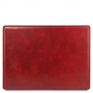 Tuscany Leather TL141892 Sottomano da scrivania in pelle Rosso