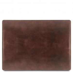 Tuscany Leather TL141892 Sottomano da scrivania in pelle Testa di Moro