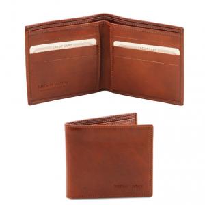 Tuscany Leather TL140797 Esclusivo portafoglio uomo in pelle 2 ante Marrone
