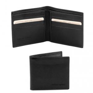 Tuscany Leather TL140797 Esclusivo portafoglio uomo in pelle 2 ante Nero