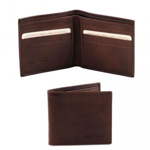 Tuscany Leather TL140797 Esclusivo portafoglio uomo in pelle 2 ante Testa di Moro