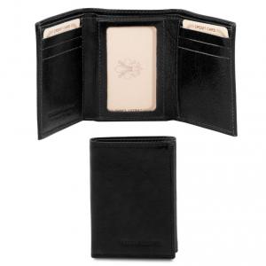 Tuscany Leather TL140801 Esclusivo portafoglio in pelle Nero