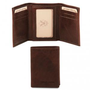 Tuscany Leather TL140801 Esclusivo portafoglio in pelle Testa di Moro