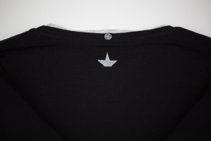 Maglia nera in jersey di viscosa Macchia J.
