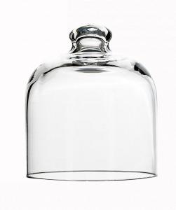 Campana Cloche in vetro per dolci cm.9,5h diam.8,2