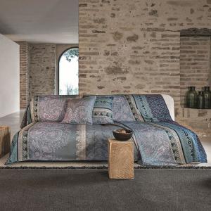 Sofa cover Furniture Bassetti Granfoulard RECANATI G1 3 sizes Slate gray