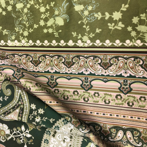 Bassetti Granfoulard furnishing cloth ANACAPRI var.1 green 3 sizes