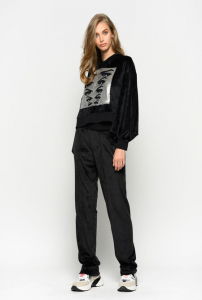 SHOPPING ON LINE  PINKO FELPA CROPPED IN CINIGLIA COMPLETAMENTE PREVIEW FALL  WINTER 19/20 NEW COLLECTION WOMEN'S